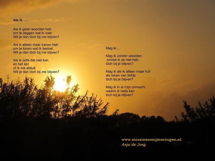 """Download Gedicht :  """"Als ik  geen woorden heb"""" van Anja de Jong"""