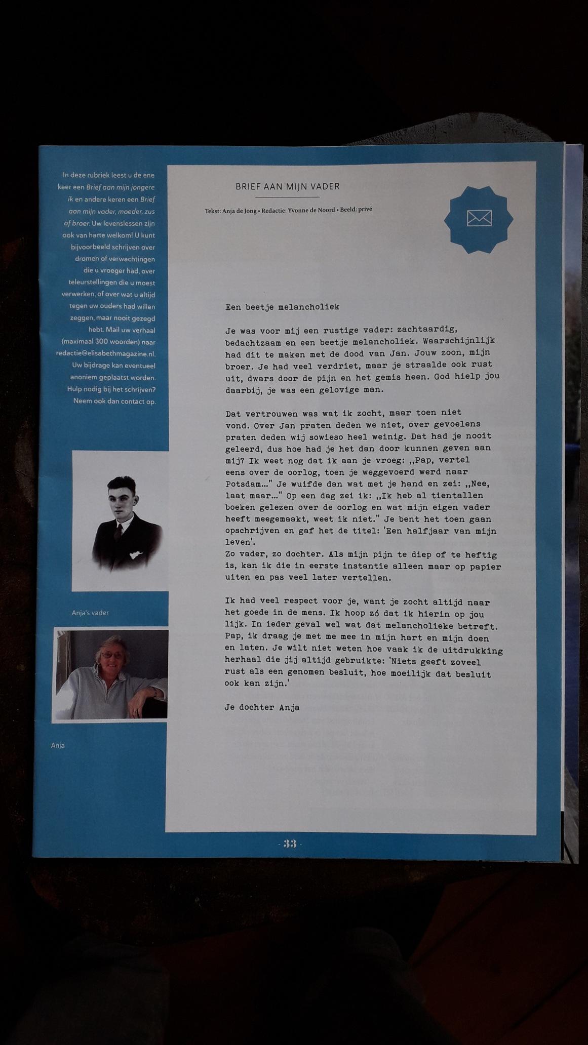 Download Brief aan mijn vader van Anja de Jong